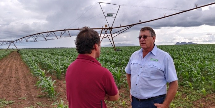 ADC tour group visits corn farms in Angola