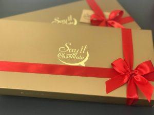 Kenya Entrepreneur say it with chocolate boxes