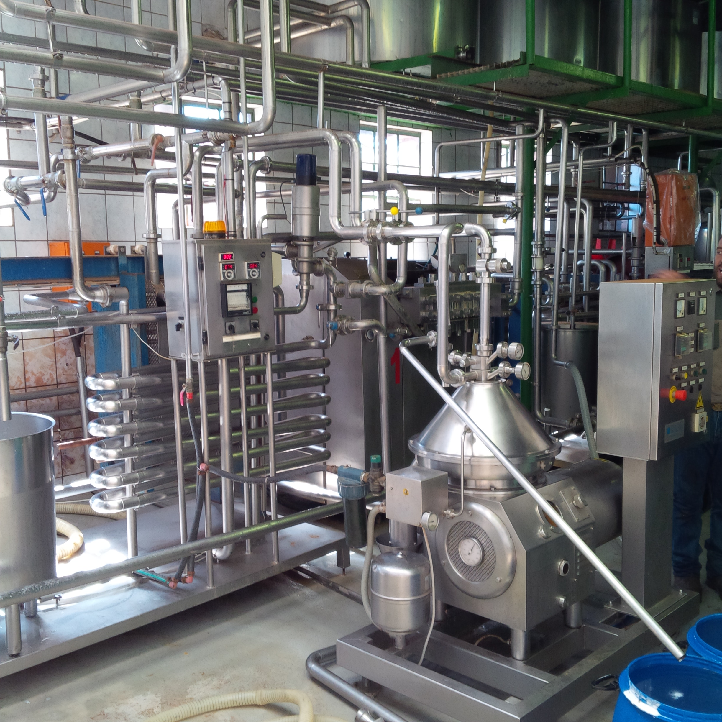 Stainless Steel Dairy Processing Plant