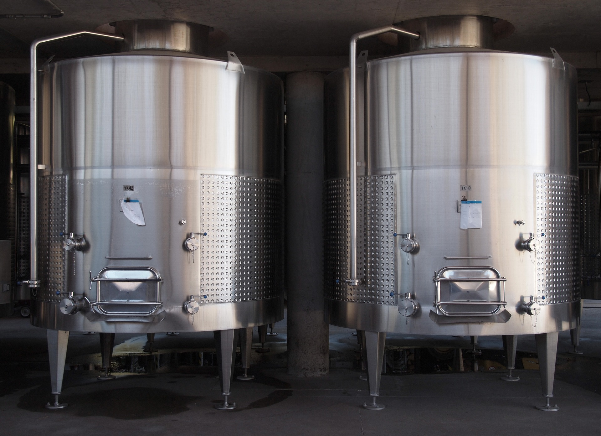 Stainless Steel Wine Processing Tanks